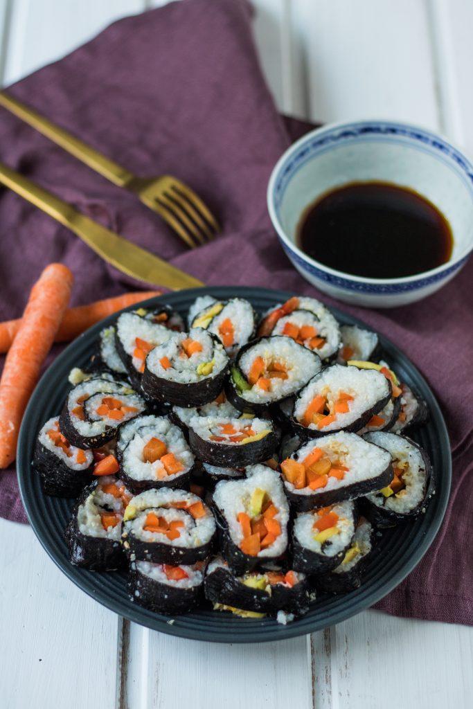 Veganes Sushi selber machen mit Cocos Aminos Soße