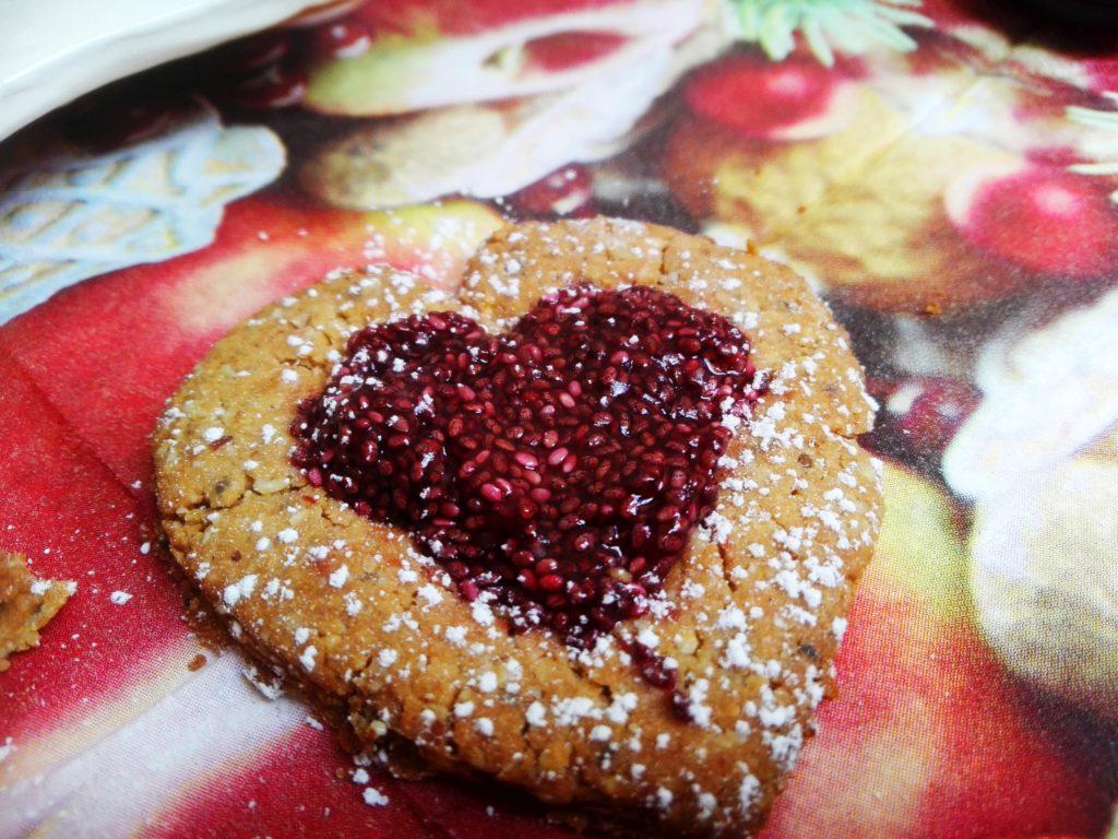 Linzer-Herz mit Chiamarmelade