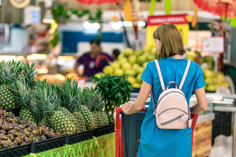 Einkaufen Verkehrsbezeichnung auf Lebensmitteln