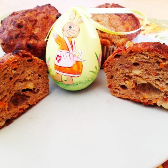 herzhafte Möhren-Bananen-Muffins