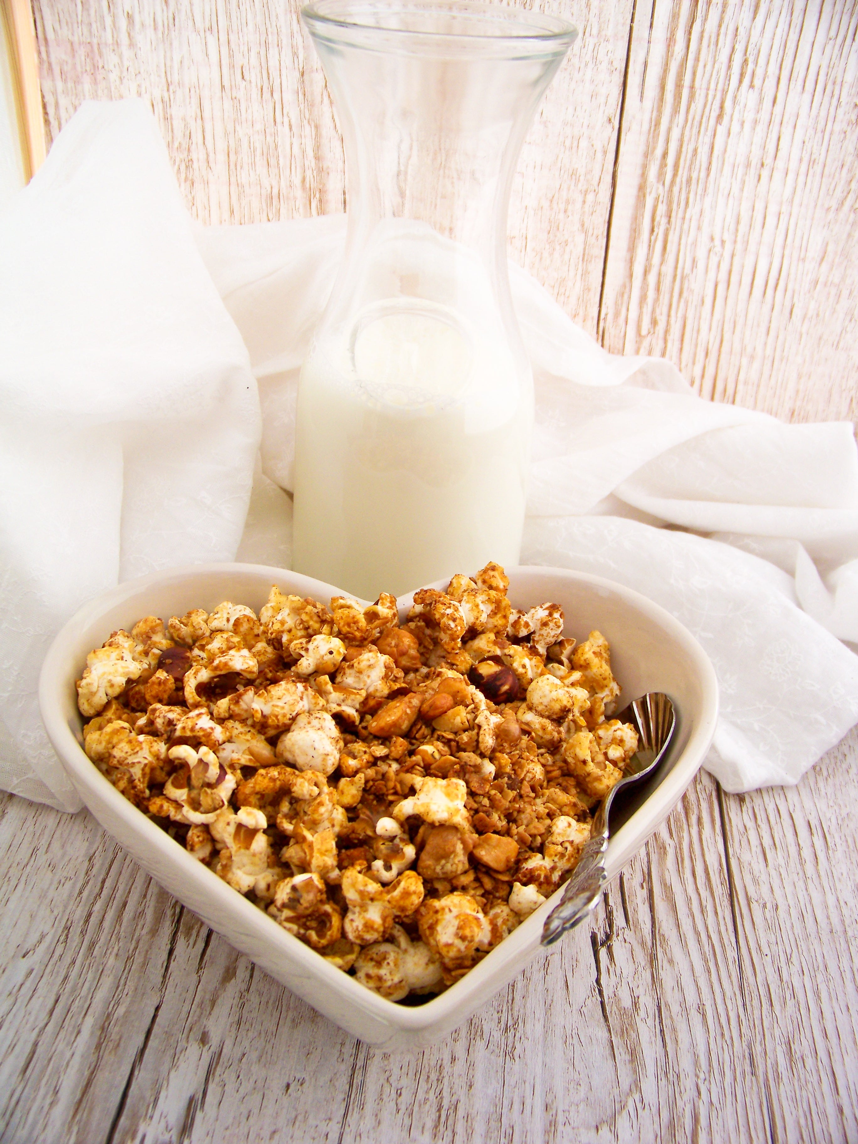 Granola_mit_Popcorn selber machen_ knuspriges Granola