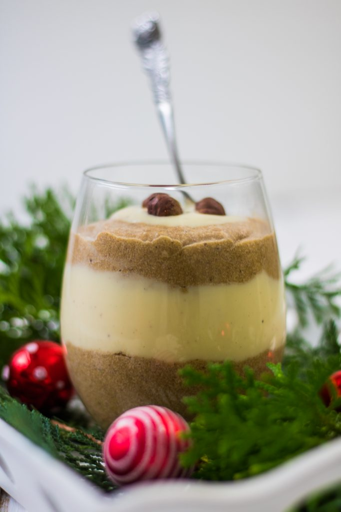 Spekulatiuscreme-Dessert im Glas