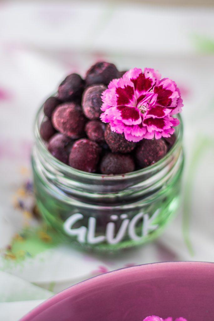 Heidelbeeren / Blaubeeren im Glas