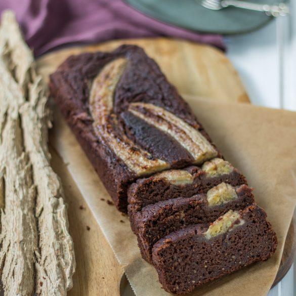 Glutenfreies veganes Schoko-Bananenbrot
