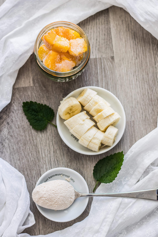 Mango-Smoothie-Bowl Zutaten