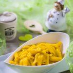 Cremige Kürbissoße mit Pasta und Dekokoch