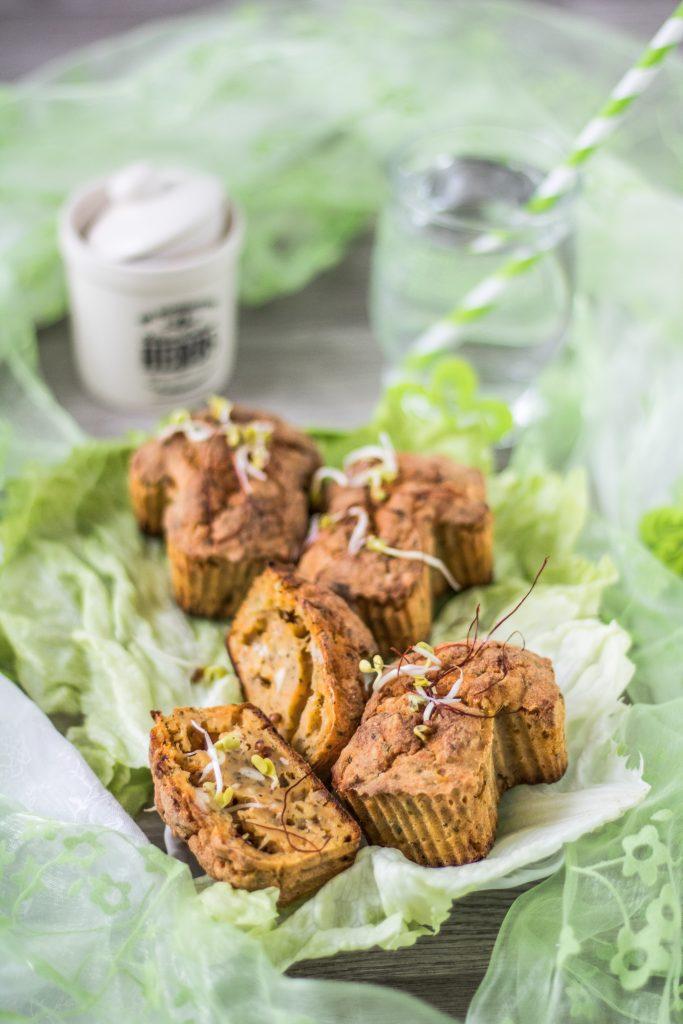 herzhafte glutenfreie Muffins in Pilzform
