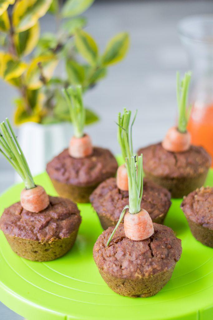 Vegane und glutenfreie Rübli-Muffins mit Möhrensaft