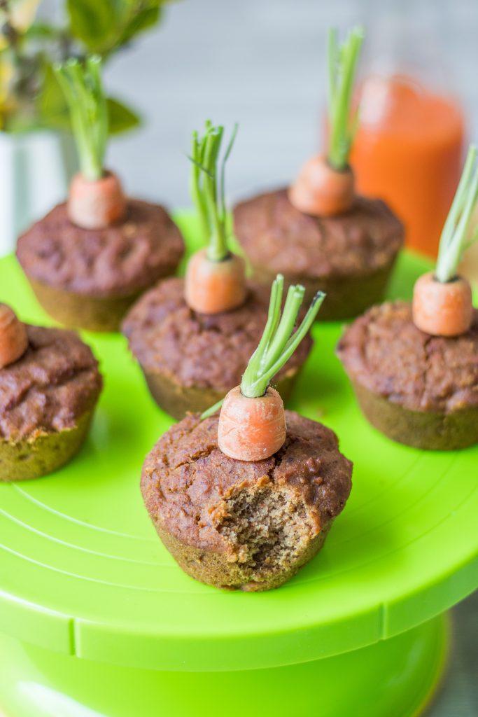 Vegane und glutenfreie Rübli-Muffins- Abgebissen