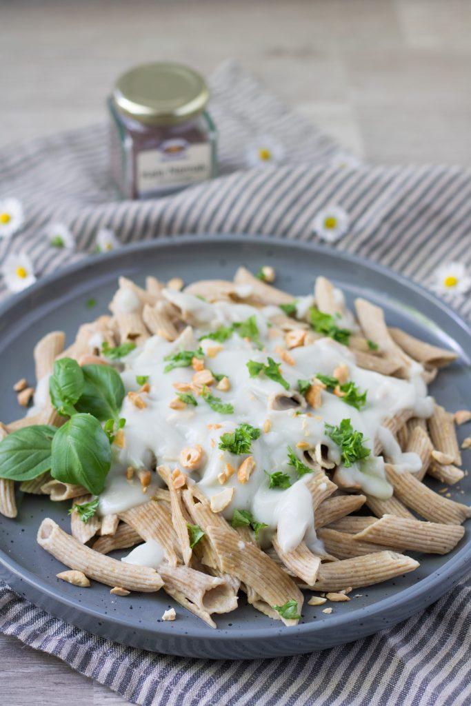 Vegane Carbonara-Sauce mit Kala Namak