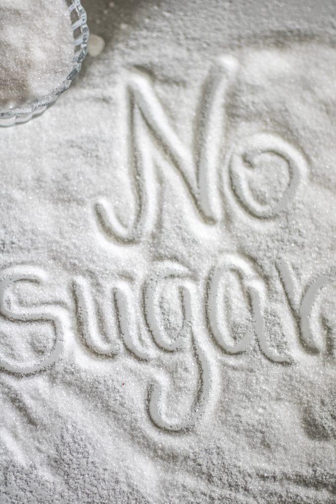 Arten von Kohlenhydraten: No Sugar in Zucker geschrieben