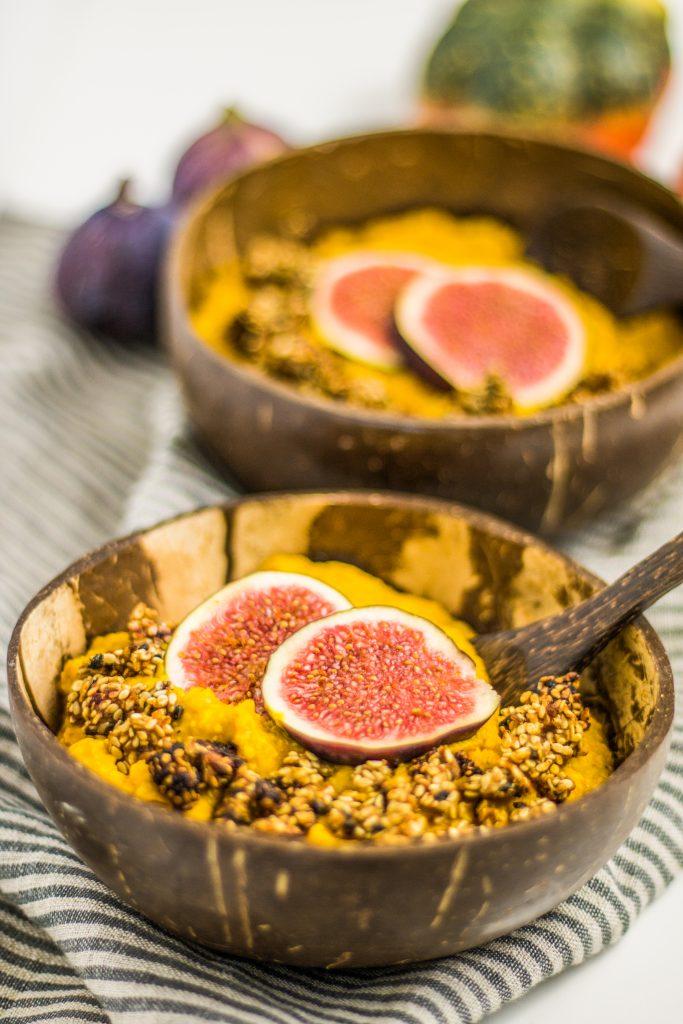 veganer cremiger Kürbis-Porridge