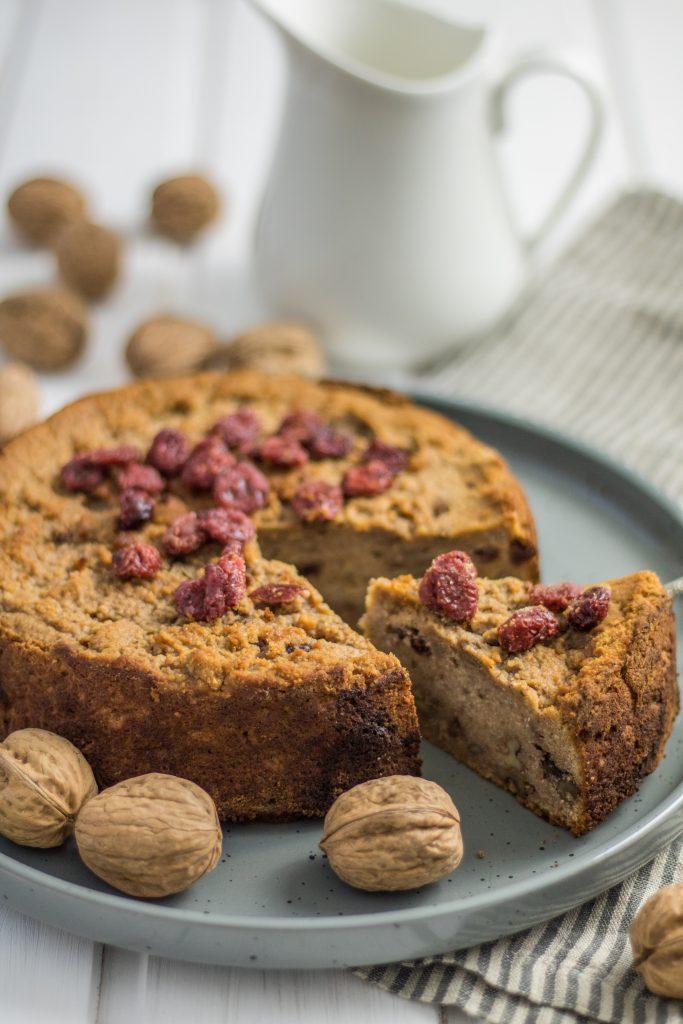 Walnuss-Cranberry-Kuchen mit TonkabohneW