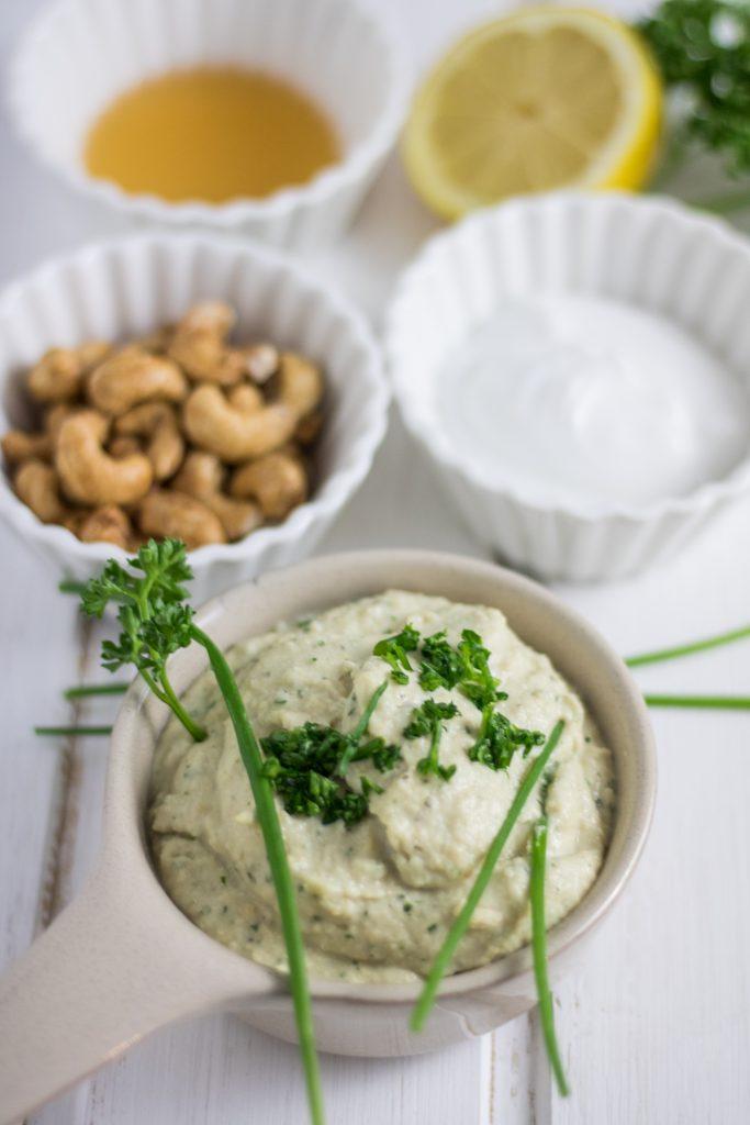 Vegane Sour Cream selber machen mit Zutaten