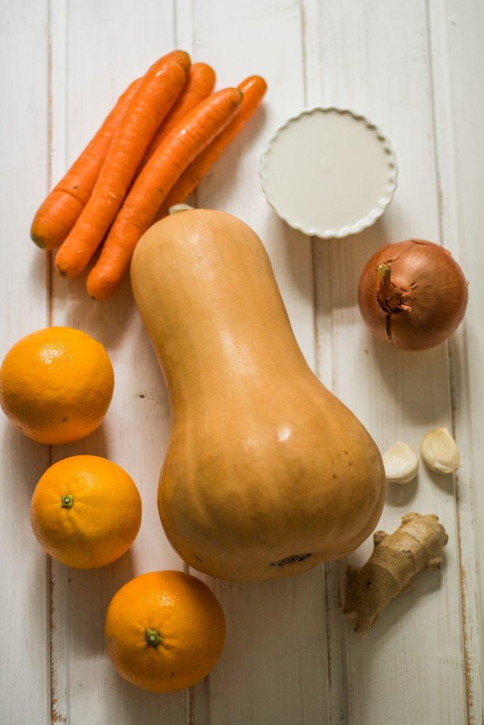 Zutaten Butternut-Kürbissuppe